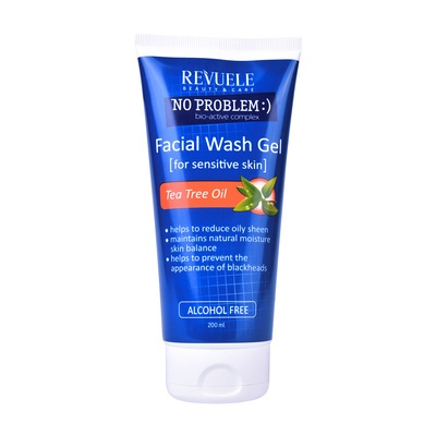 Facial Wash Gel for Sensitive Skin REVUELE No Problem Tea Tree Oil 200ml