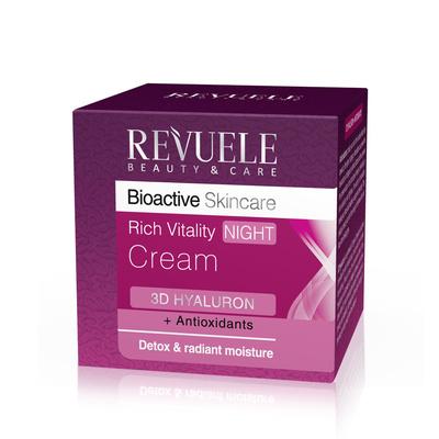Noćna krema za revitalizaciju kože lica sa hijaluronskom kiselinom REVUELE Bioactive 50ml