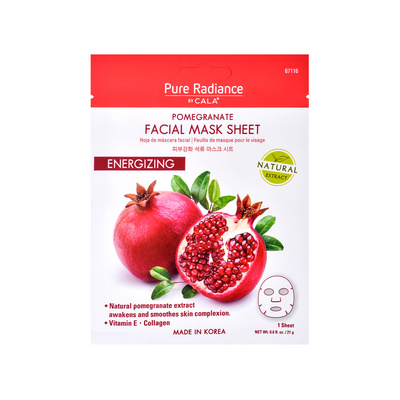 Facial Mask Sheet CALA Pomegranate Energizing 21g