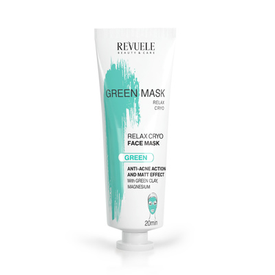 Anti-Acne Green Face Mask REVUELE Cryo Effect 80ml