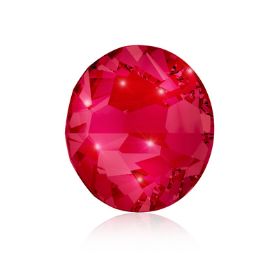Kristali za nokte SWAROVSKI A 2058 Xilion Rose Enhanced SS5 Ruby 40/1