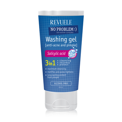 Washing Gel Anti-Acne & Pimples REVUELE No Problem 200ml