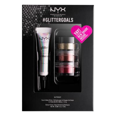 Set Gliter za lice i telo i prajmer NYX Professional Makeup #glittergoals GLISET02 3x1.5g