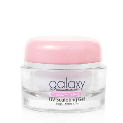Gradivni gel za nadogradnju noktiju 3u1 GALAXY Transparent Pink 50g