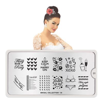 Šablon za pečate MOYOU Bridal 01
