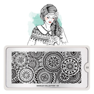 Stamping Nail Art Image Plate MOYOU Doodles 03