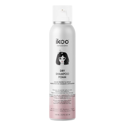 Dry Shampoo Foam Sulfate Free IKOO Infusions Color Protect & Repair 150ml