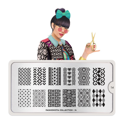 Stamping Nail Art Image Plate MOYOU Fashionista 14