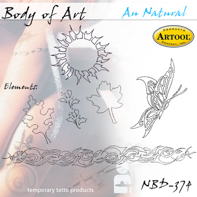 Airbrush šablon za telo - Natural
