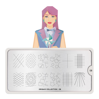 Stamping Nail Art Image Plate MOYOU Origami 08
