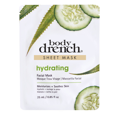 Sheet Facial Mask with Aloe Vera BODY DRENCH Hydrating 25ml