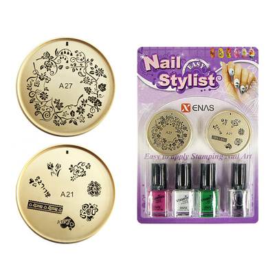 Set For Nail Art With Stencils And Nail Polishes TYPE11
