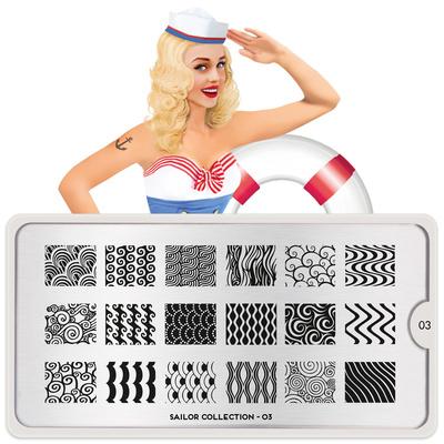 Stamping Nail Art image Plate MOYOU Sailor 03