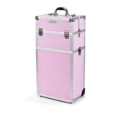 Kofer za šminku, kozmetiku i pribor GALAXY TC-3270PGS Roze dvodelni sa točkićima
