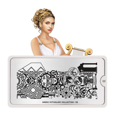 Stamping Nail Art Image Plate Greek MOYOU Mythology 02