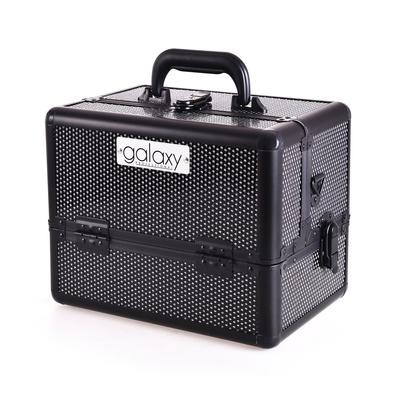 Makeup, Cosmetics and Tool Case GALAXY TC-1432BG Black Glitter