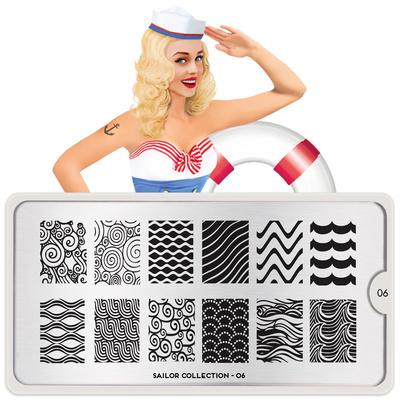 Stamping Nail Art Image Plate MOYOU Sailor 06