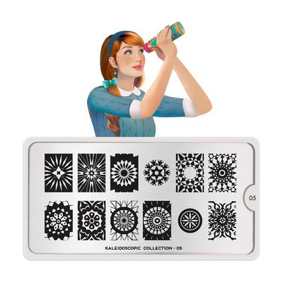 Stamping Nail Art Image Plate MOYOU Kaleidoscope 05