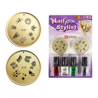 Set For Nail Art With Stencils And Nail Polishes TYPE4