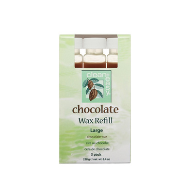 Roller Cartridge Depilatory Wax CLEAN EASY Chocolate 3x79g