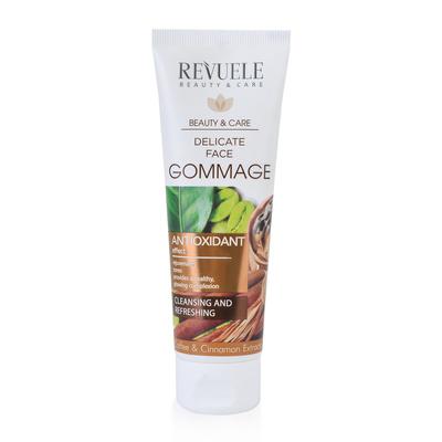 Piling za lice sa kofeinom glinom i cimetom REVUELE Antioxidant 80ml