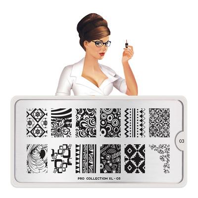 Stamping Nail Art Image Plate MOYOU Pro XL 03