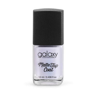 Mat završni sloj za lak za nokte GALAXY Matte Top Coat 12ml