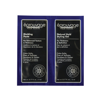 Styling and molding set for men's hair Paste/Gel