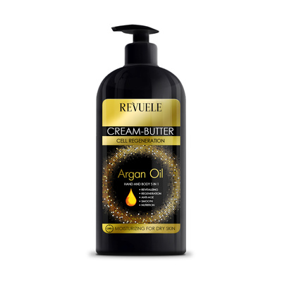 Body and Hand Cream-Butter REVUELE Argan Oil 400ml