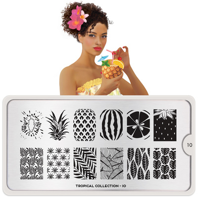 Stamping Nail Art Image Plate MOYOU Tropical 10