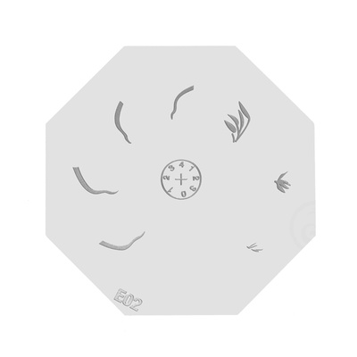Šablon disk za pečate osmougaoni E02