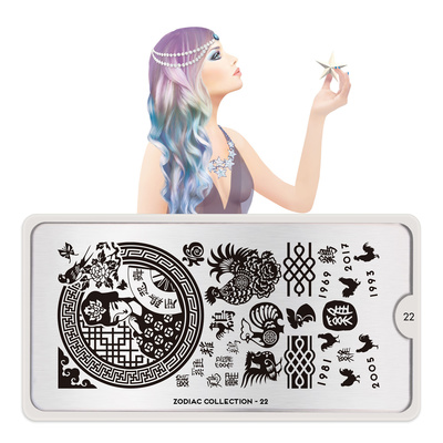 Stamping Nail Art Image Plate MOYOU Zodiac 22