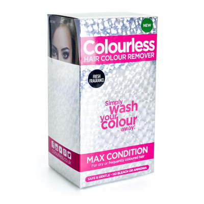 Skidač farbe bez blanša za suvu i oštećenu kosu COLOURLESS Max Condition 4x60ml