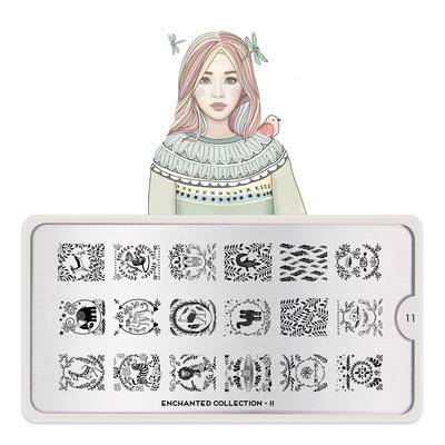 Stamping Nail Art Image Plate MOYOU Enchanted 11