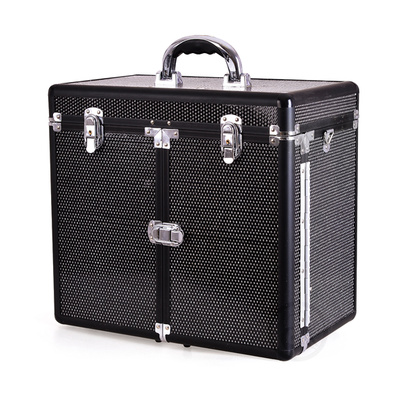 Makeup, Cosmetics and Tool Case GALAXY TC-3268R Black Glitter