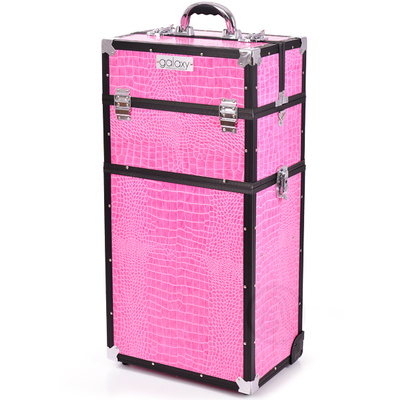 Makeup, Cosmetics and Tool Case GALAXY TC-3270PCB Pink Twopiece with Wheels