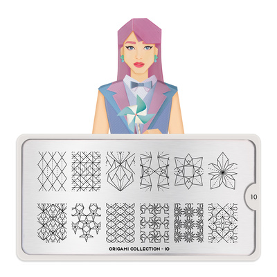 Stamping Nail Art Image Plate MOYOU Origami 10