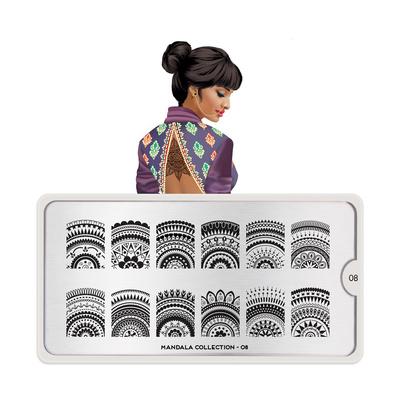 Stamping Nail Art Image Plate MOYOU Mandala 08