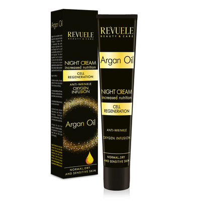 Moisturizing Night Face Cream Anti-wrinkle REVUELE Argan Oil 50ml