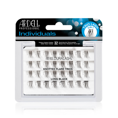 Individual Lashes Knotted Flare Trios ARDELL Long Black