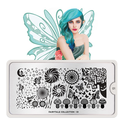 Stamping Nail Art Image Plate MOYOU Fairytale 01