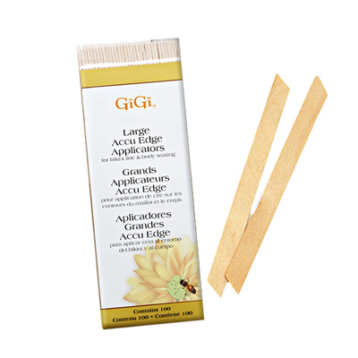 Wooden Wax Applicators GIGI Edge Large 100/1