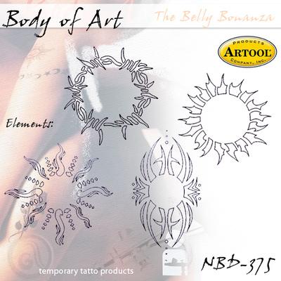 Airbrush šablon za telo Krugovi II