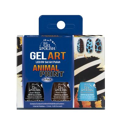 Set Just Gel Polish LED/UV IBD Animal Print 3x7.4ml