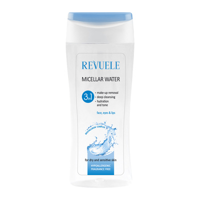 Micelarna voda za skidanje šminke, čišćenje i toniranje lica REVUELE 3u1 200ml