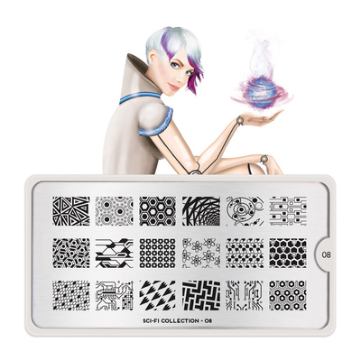 Stamping Nail Art Image Plate MOYOU Sci-Fi 08