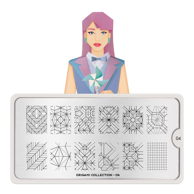 Šablon za pečate MOYOU Origami 04