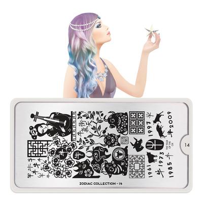 Stamping Nail Art Image Plate MOYOU Zodiac 14