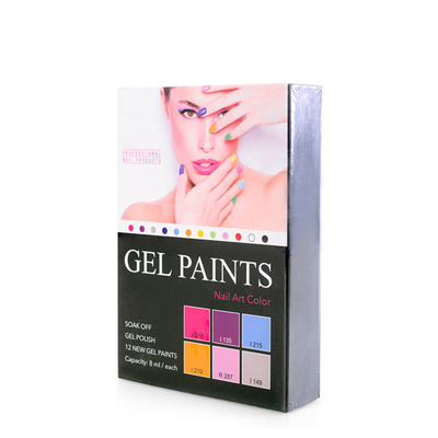 Gel Paints Kit For Nail Art GELP01 6pcs