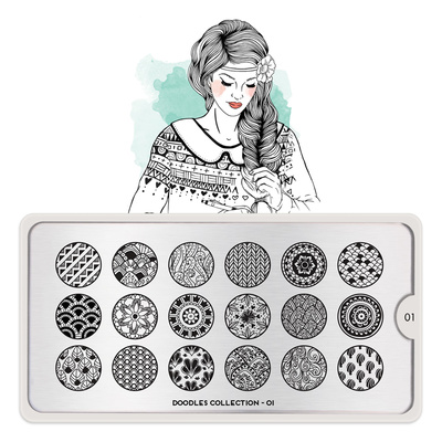 Stamping Nail Art Image Plate MOYOU Doodles 01